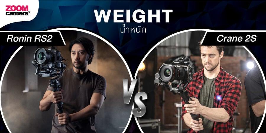 DJI Ronin RS2 vs Zhiyun 2S zoomcamera 1