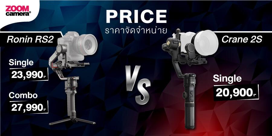 DJI Ronin RS2 vs Zhiyun 2S zoomcamera 8