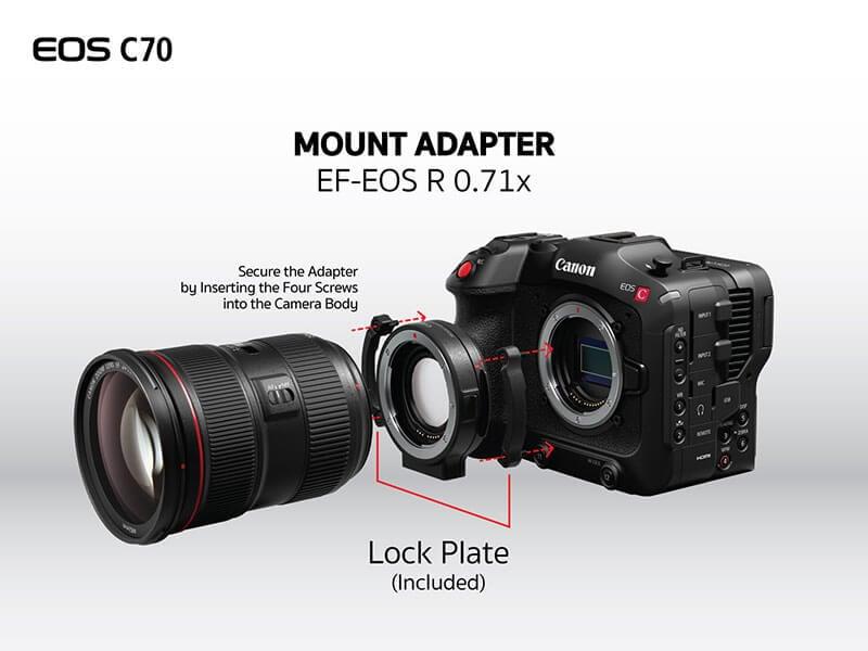 Canon EOS C70 Cinema Camera RF Lens Mount 12