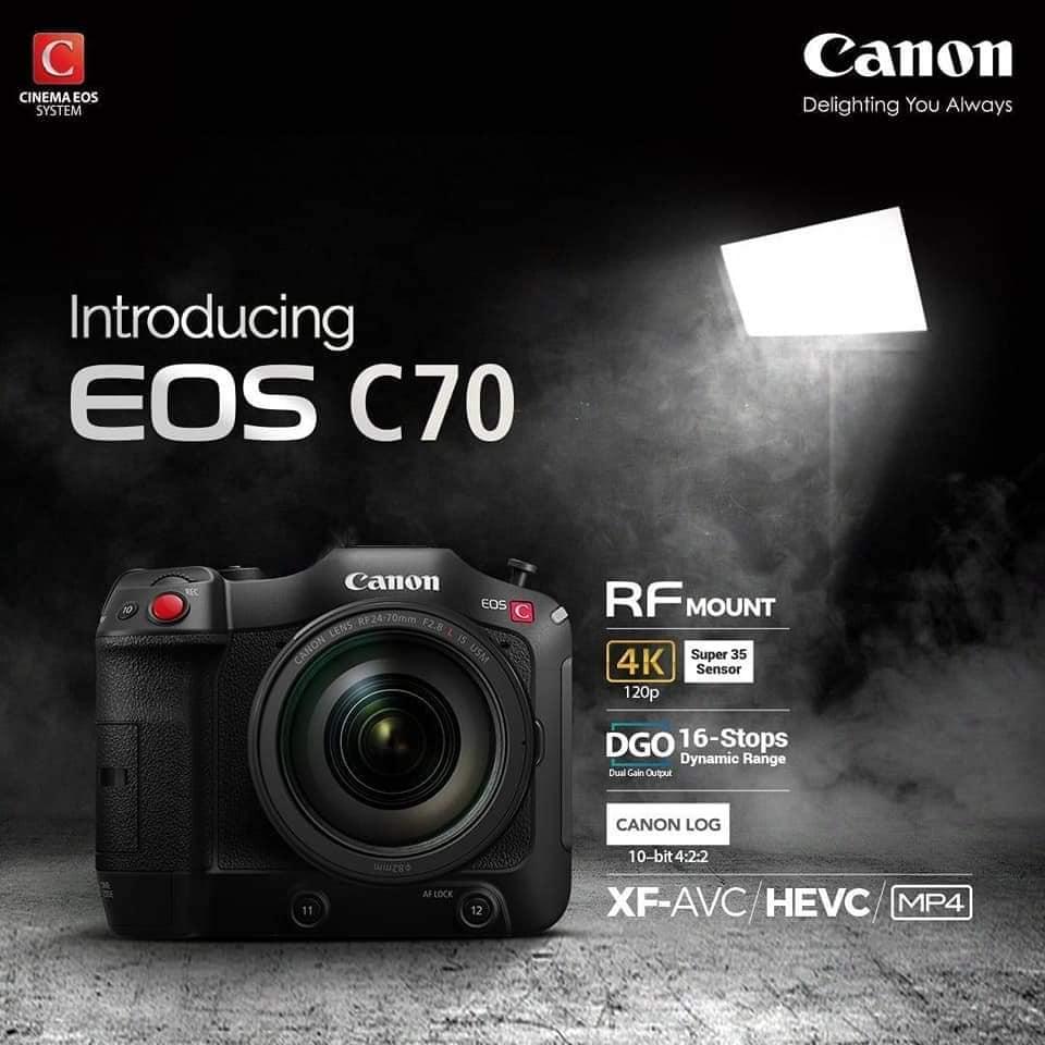 Canon EOS C70 Cinema Camera RF Lens Mount 15