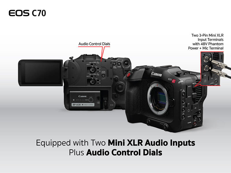 Canon EOS C70 Cinema Camera RF Lens Mount 18