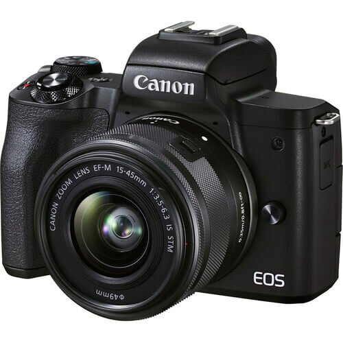 Canon EOS M50 Mark II Mirrorless Digital Camera with 15 45mm Lens 1