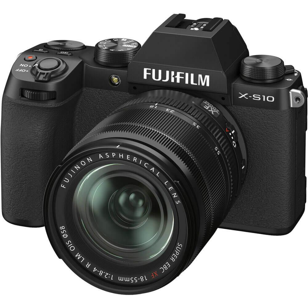 FUJIFILM X-S10 Mirrorless Digital Camera with 18-55mm Lens