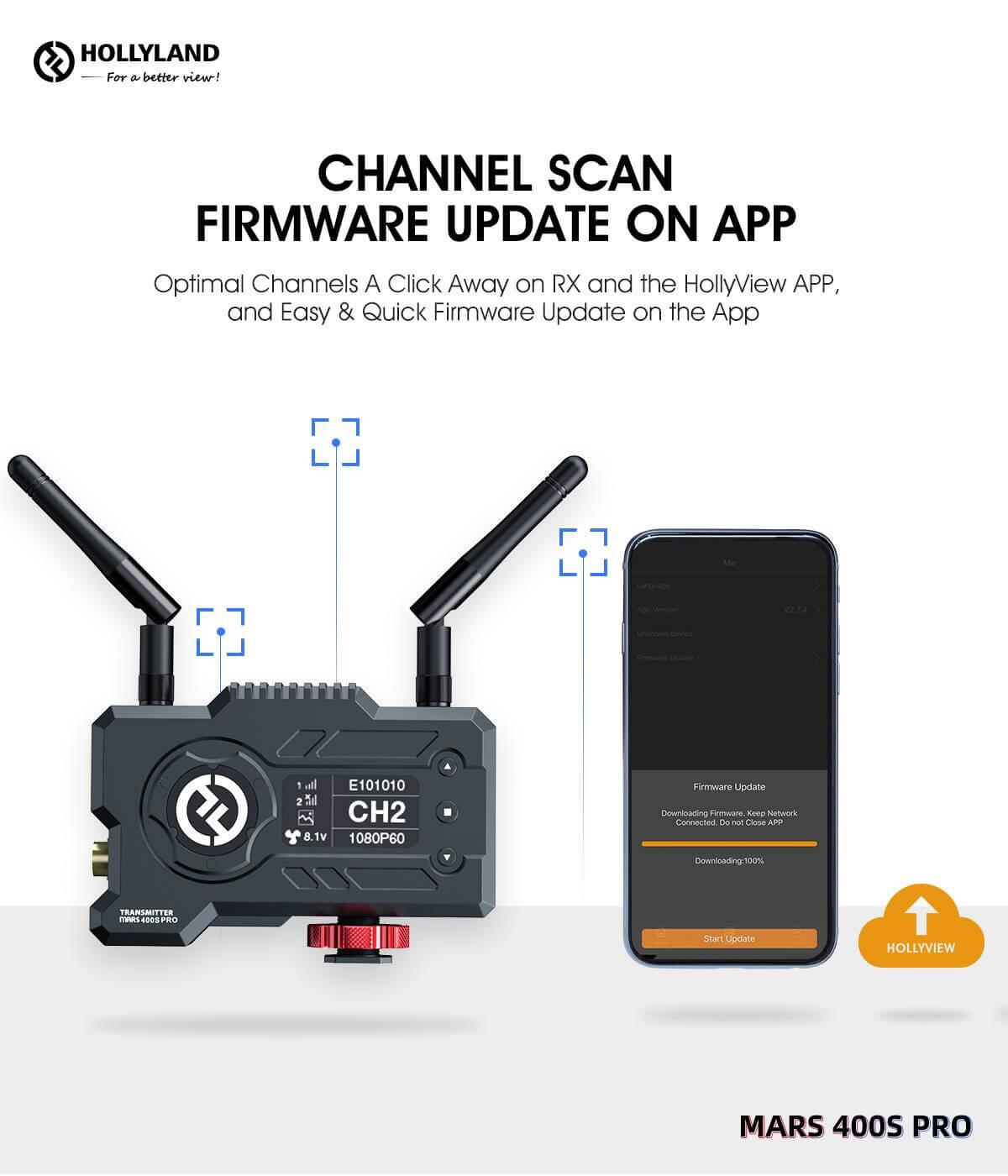 Hollyland Mars 400S PRO SDIHDMI Wireless Video Transmission System 22