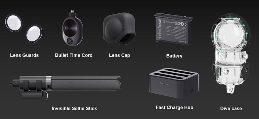 Insta360-one-X2-อุปกรณ์เสริม
