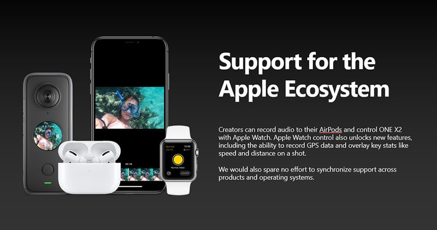 Insta360-one-X2-apple-device-support