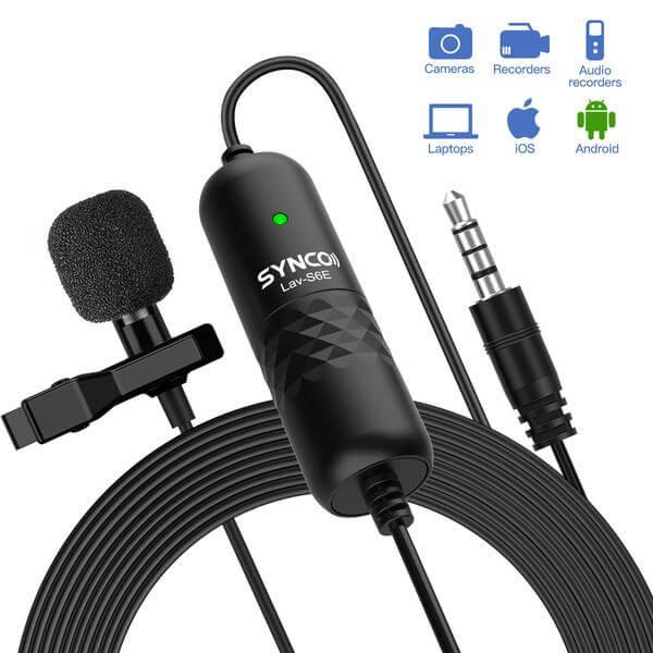 Synco Lav-S6E Omnidirectional Lavalier Microphone