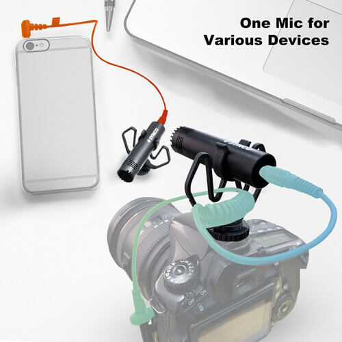 Mobile Journalist, Vlogger, Run & Gun For Cameras and Smartphones Requires No Batteries or Phantom Power Simple Operation with No Controls
