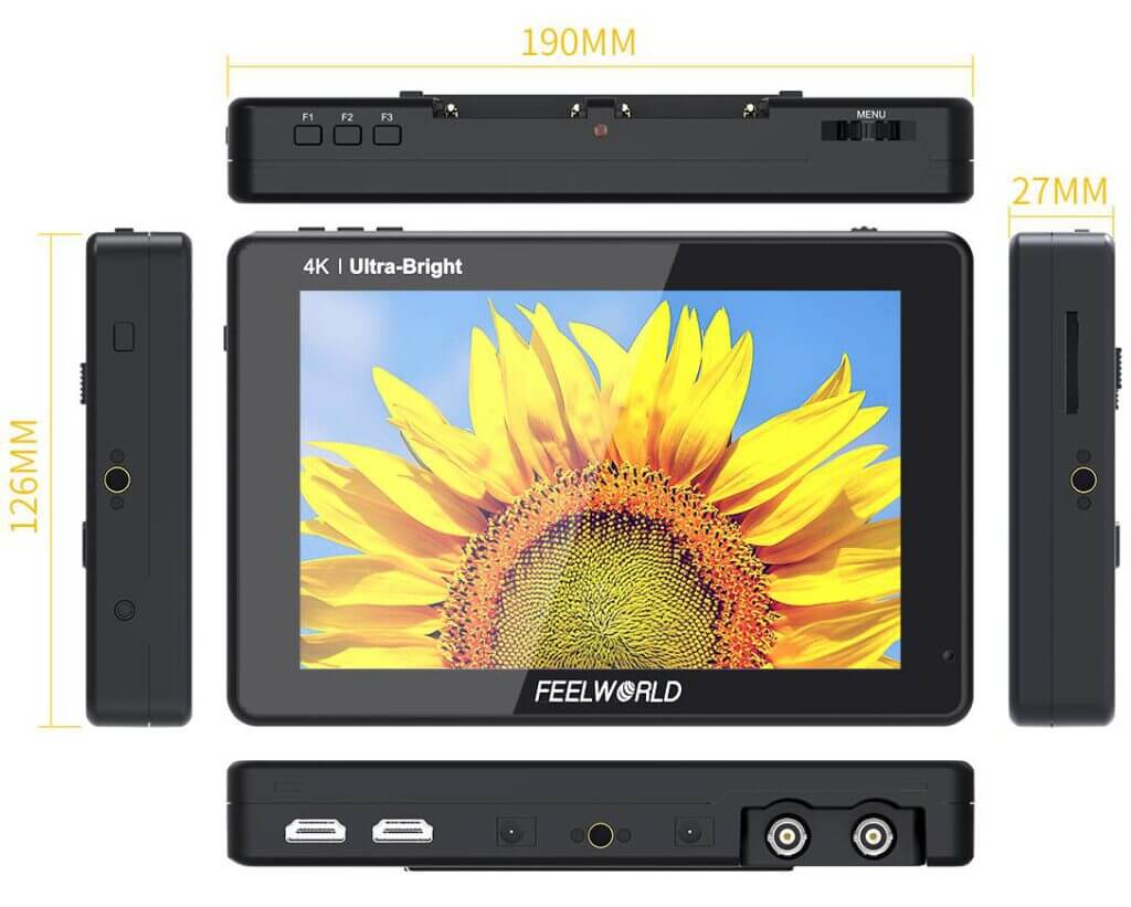 7 inch 2200nits bright field monitor