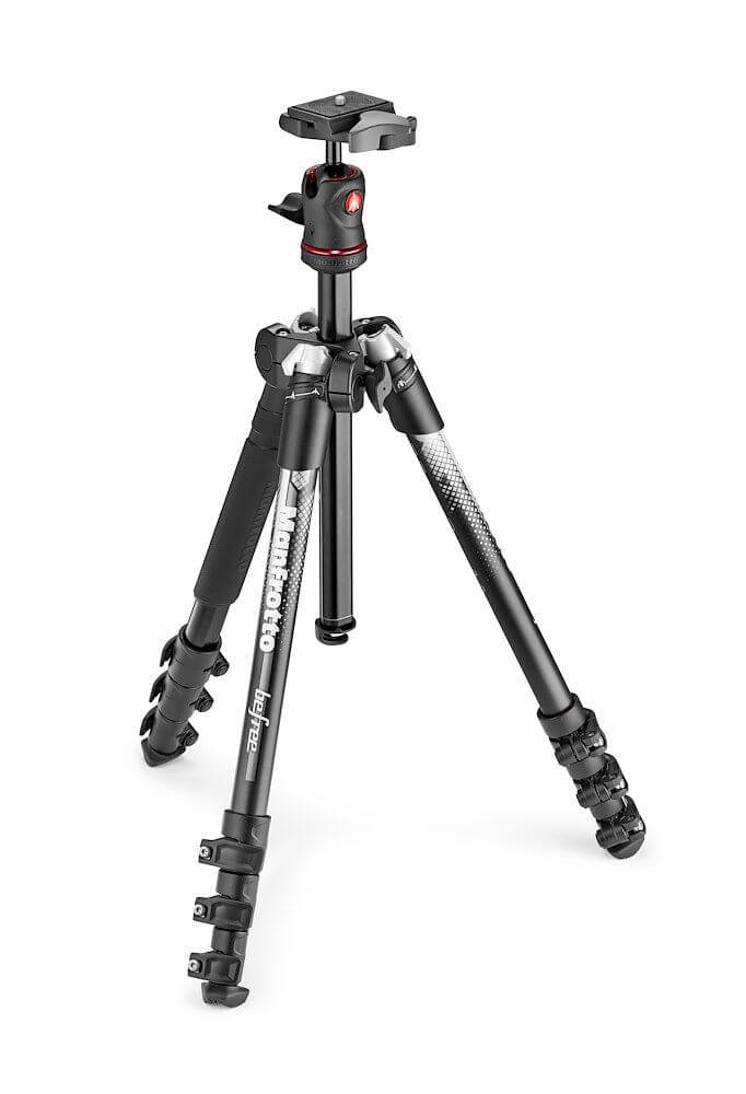 Mamfrotto (MKBFRA4GY-BH) BeFree Color Aluminium Travel Tripod kit Grey