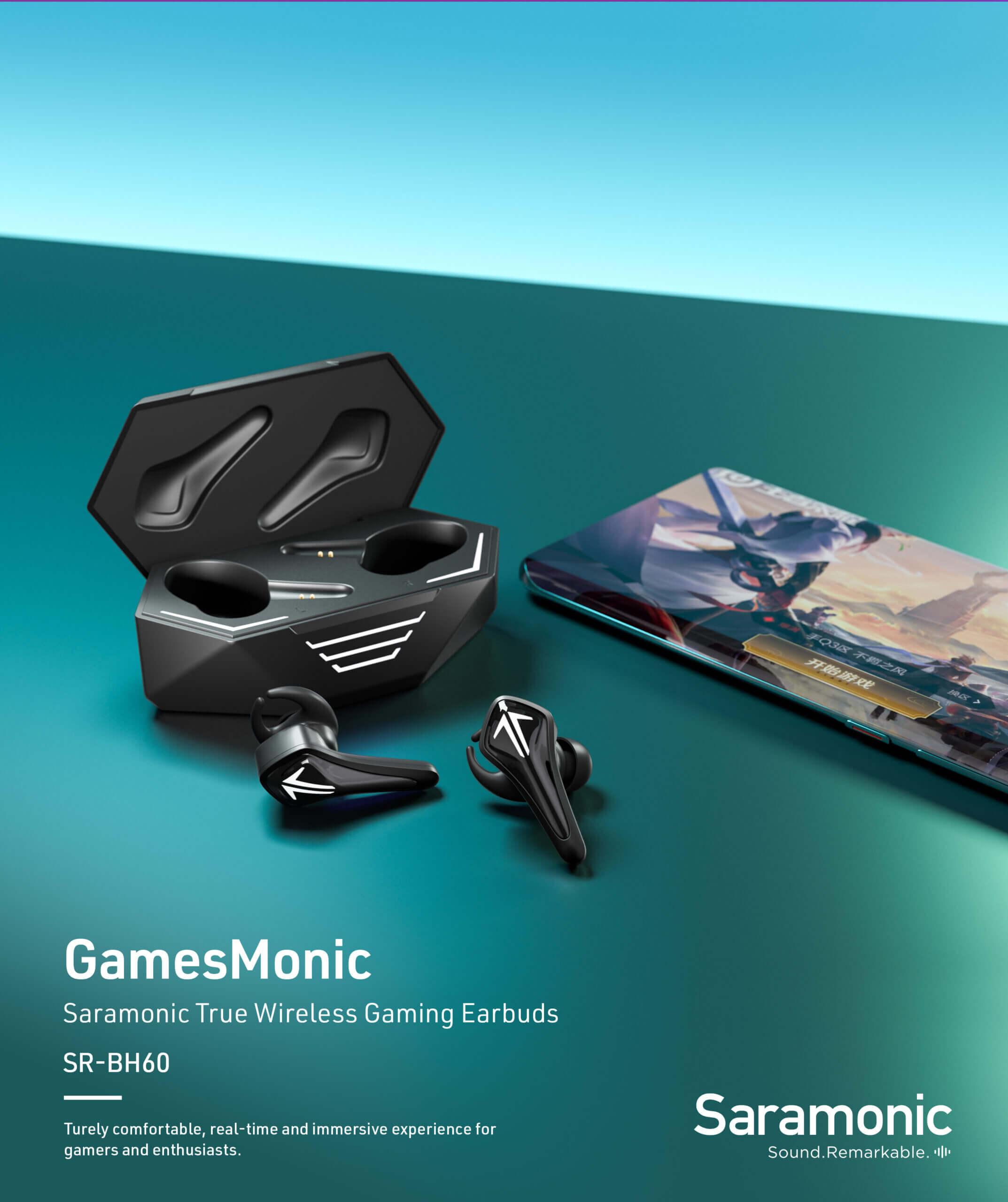 Saramonic SR BH60 R True Wireless Gaming Earbuds 16 scaled