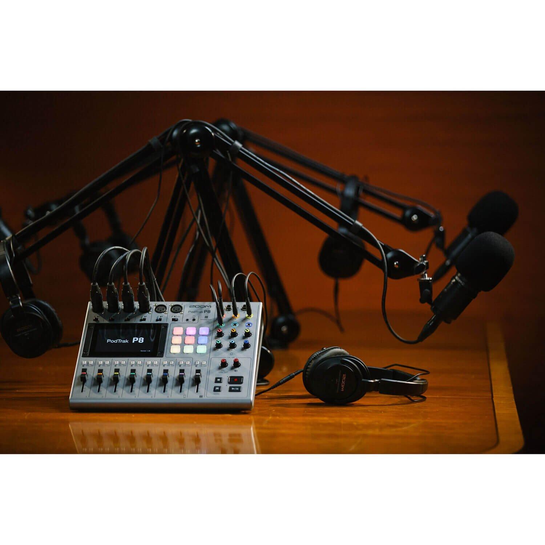 Zoom PodTrak P8 Portable Multitrack Podcast Recorder 8