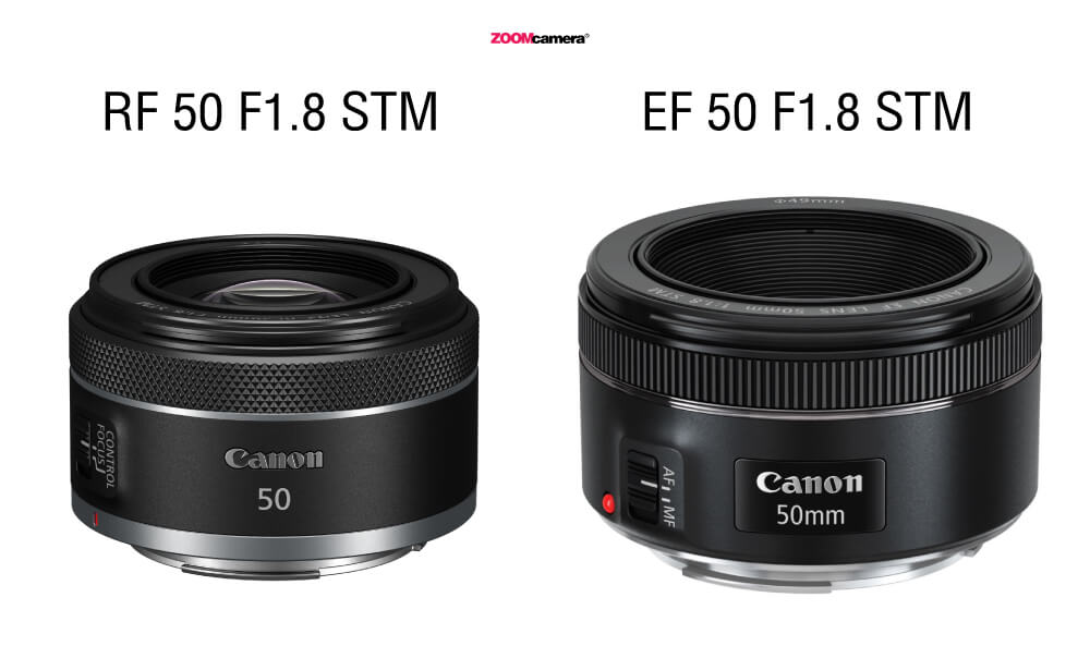 Canon RF 50mm. F1.8 STM vs Canon EF 50mm. F1.8 STM