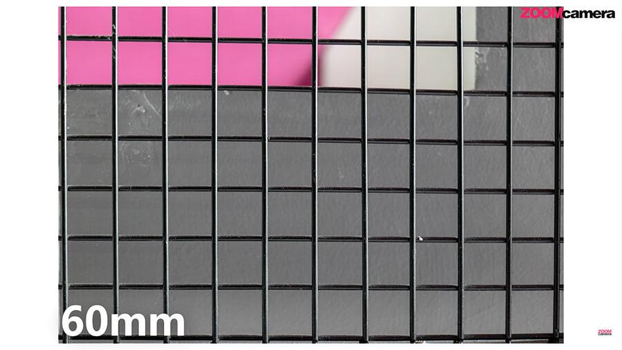 Panasonic Lumix S 20 60mm f3.5 5.6 Lens distortion 60mm