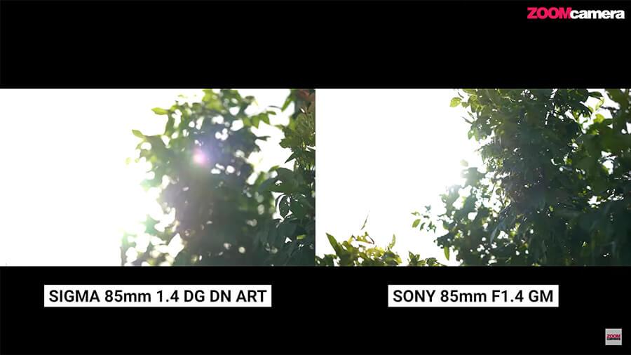 รีวิว SIGMA 85mm F1.4 DG DN ART for sony โกสต์ แฟลร์