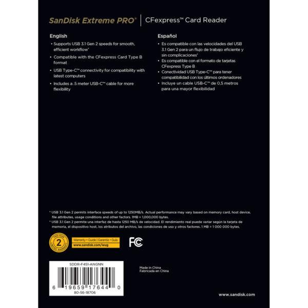 SanDisk Extreme PRO CFexpress Type B Card Reader 2