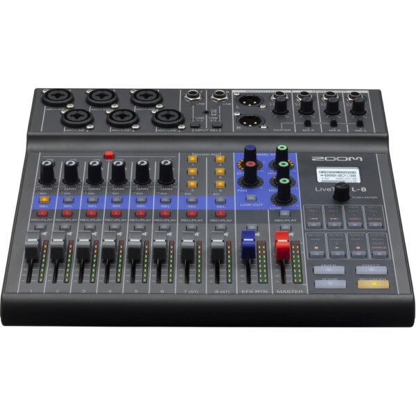 Zoom LiveTrak L-8 Portable 8-Channel Digital Mixer and Multitrack Recorder