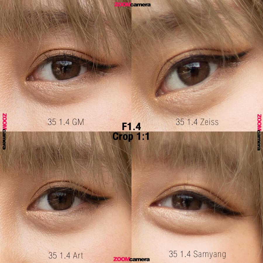 Sony FE 35mm F1.4 GM เปรียบเทียบ SIGMA 35mm F1.4 DG HSM Art และ Sony FE 35mm F1.4 Carl Zeiss Sonnar T และ Samyang Auto Focus 35mm F1.4 FE ความคม