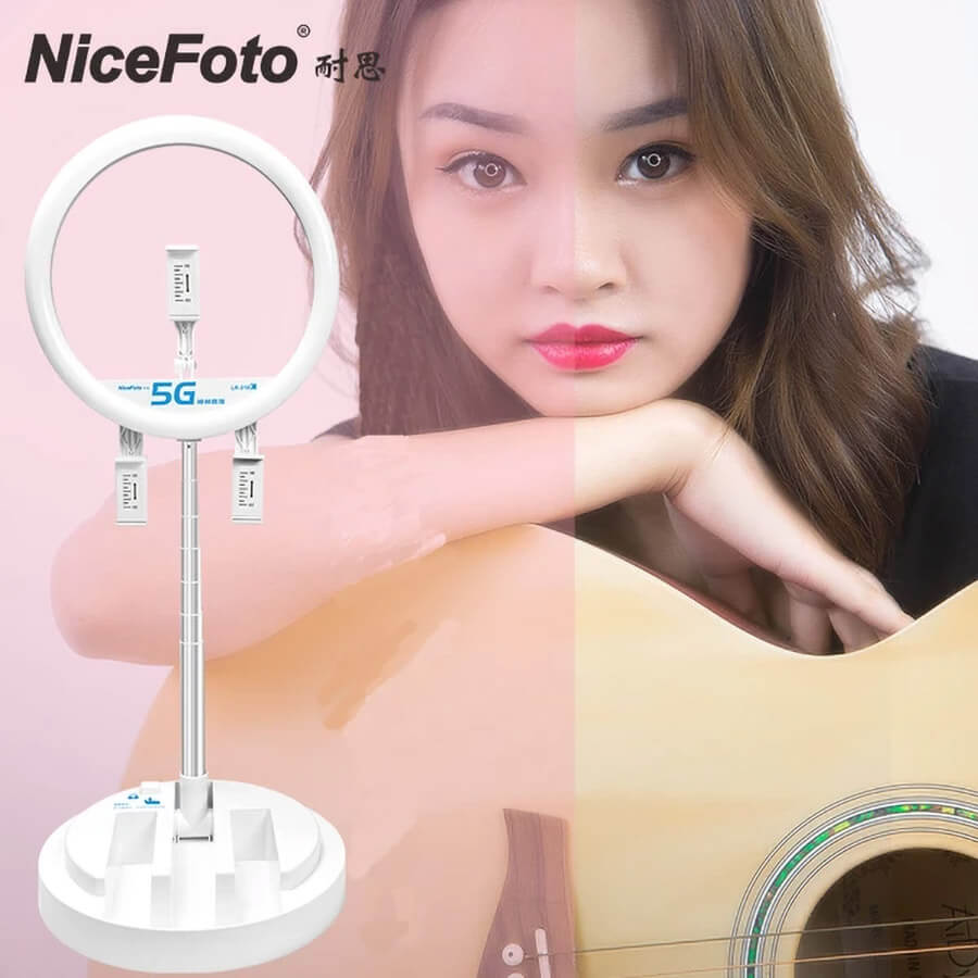 NiceFoto LR 318C LED Live Light ไฟวงแหวน 1