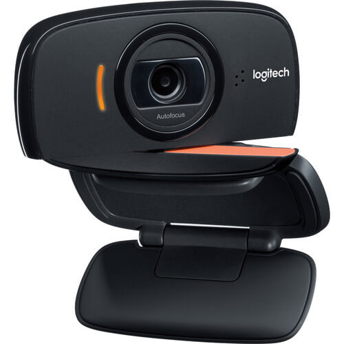 Logitech B525 HD Webcam (1280 x 720) with Built-In Stereo Mics