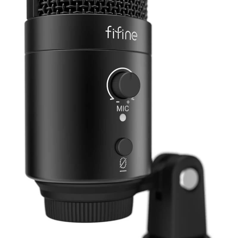FIFINE K683A TYPE C USB MIC WITH A U-SHAPE POP FILTER