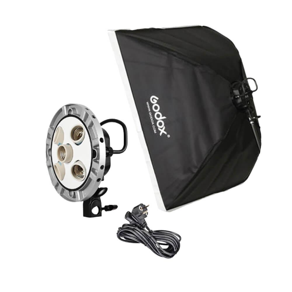 Godox-TL-5K-Socket-Studio-Kit-5-in-1-Bulb-Head-+-Softbox-60x60cm-02