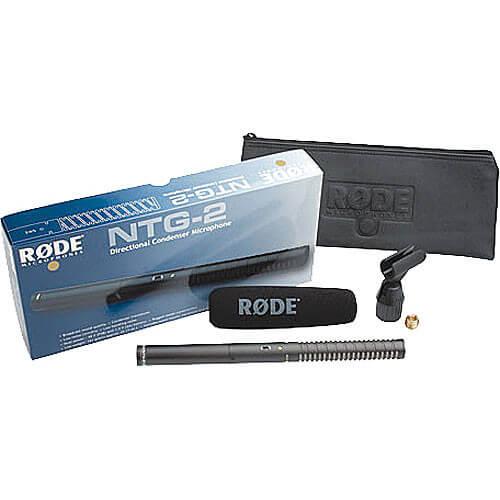 RODE VideoMic NTG2 Dual Powered (AA/P48) Directioal Condenser Microphone