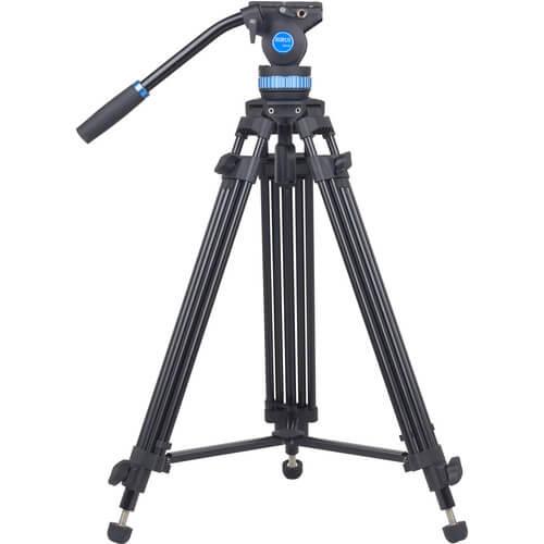Sirui-SH15-Aluminum-Video-Tripod-with-Fluid-Head