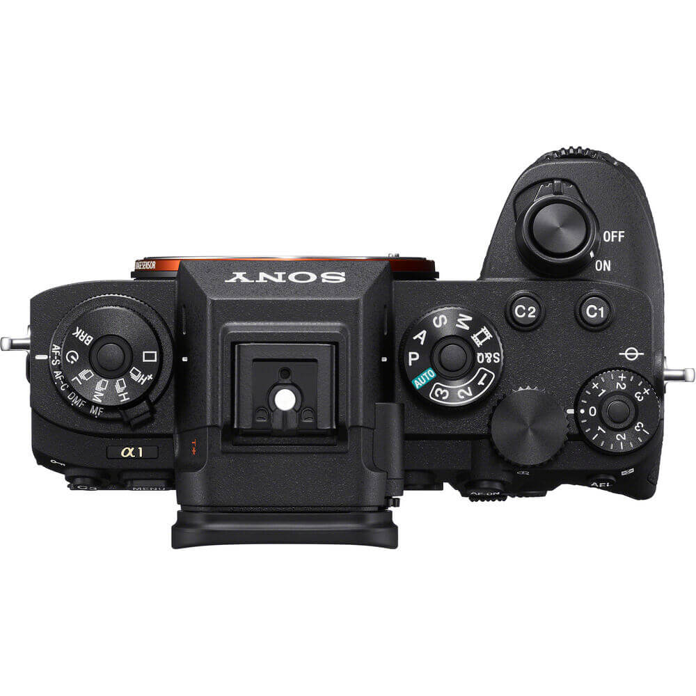 Sony Alpha 1 A1 top view