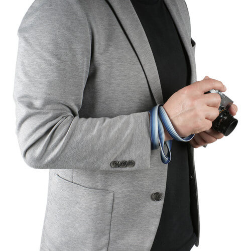 Artisan & Artist Silk camera strap - Navy:Silver1