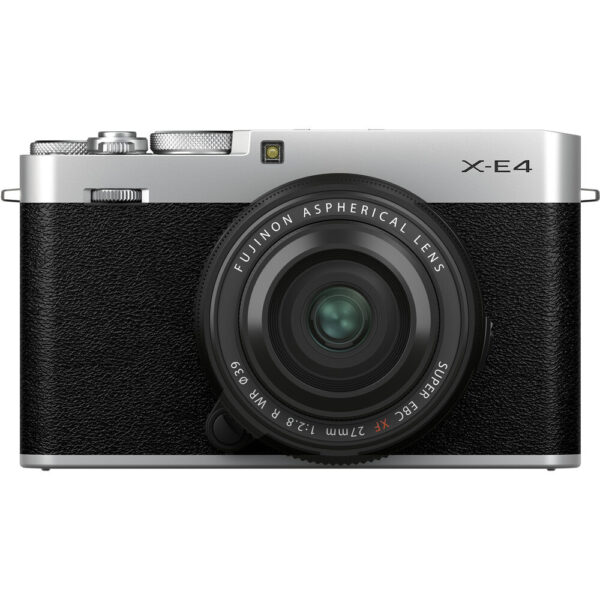 FUJIFILM X-E4 Mirrorless Digital Camera with XF 27mm f2.8 R WR Lens