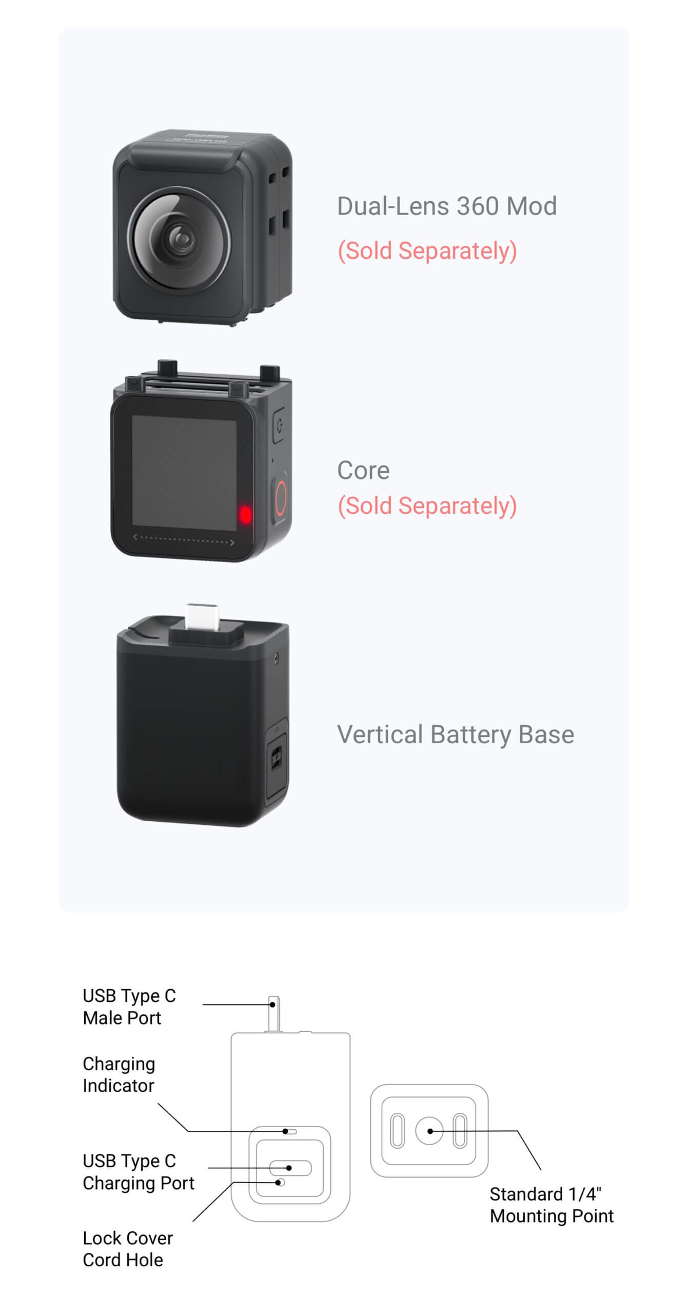 Insta360 ONE R Vertical Battery Base 7 scaled
