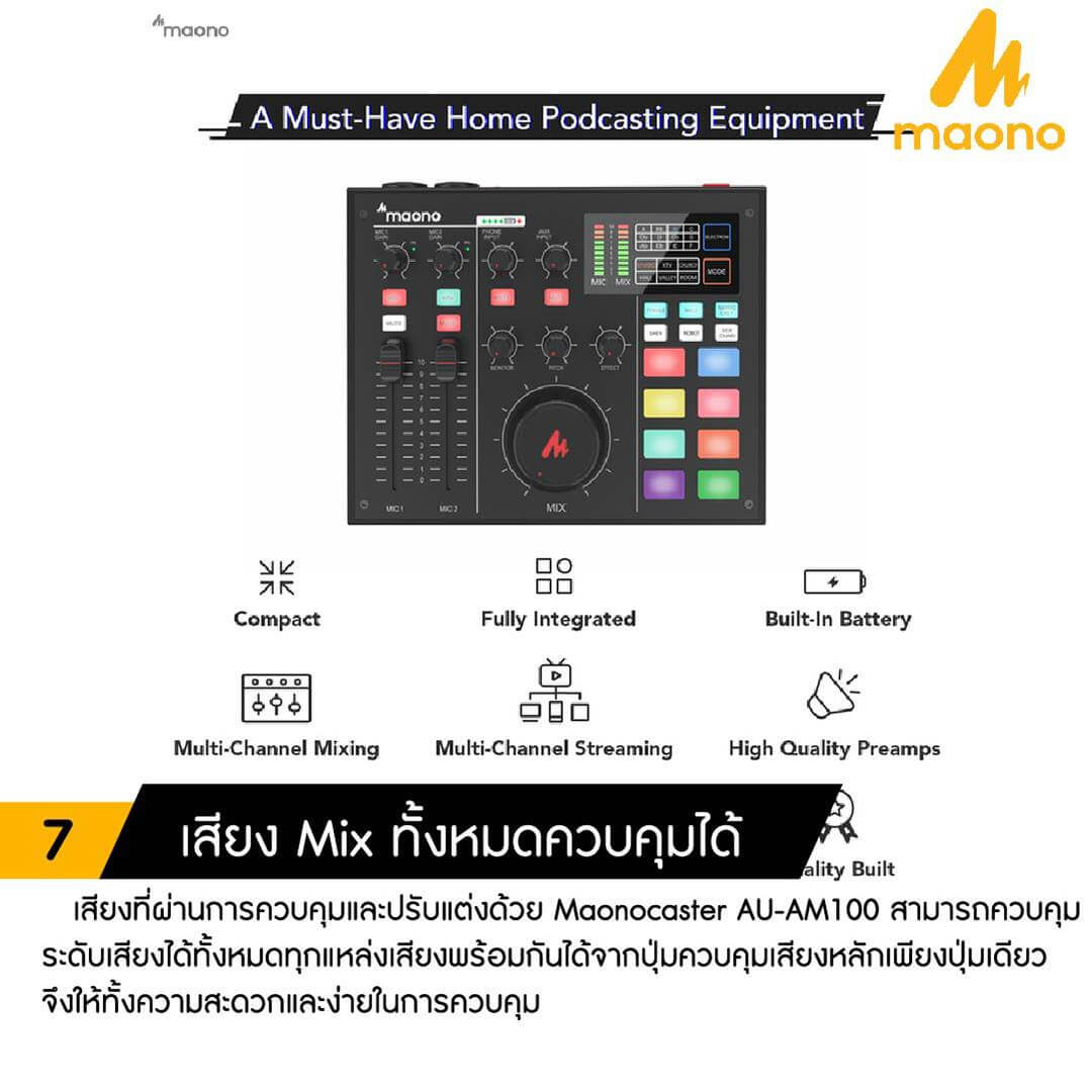 Maono AU AM100 K1 MAONOCASTER Single Mic Bundle 007
