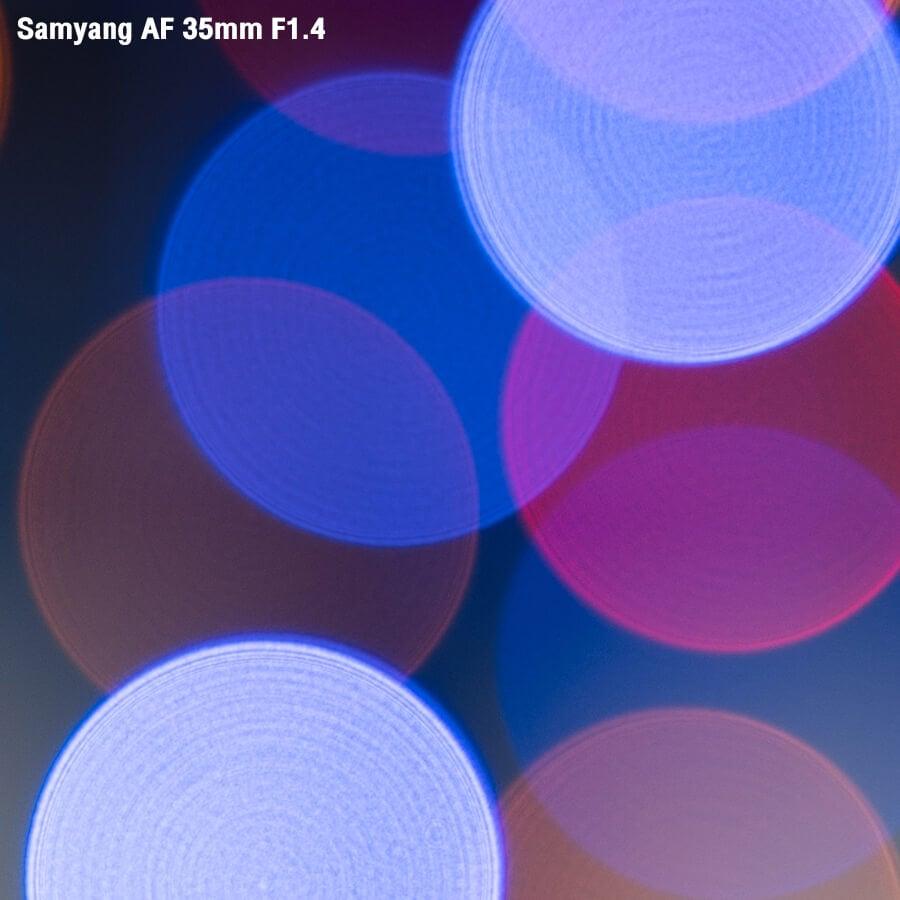 SAMYANG AF 35mm F1.4 ISO 100 1 30 sec at f 1.4 Auto Focus Test Crop 100 percent 1