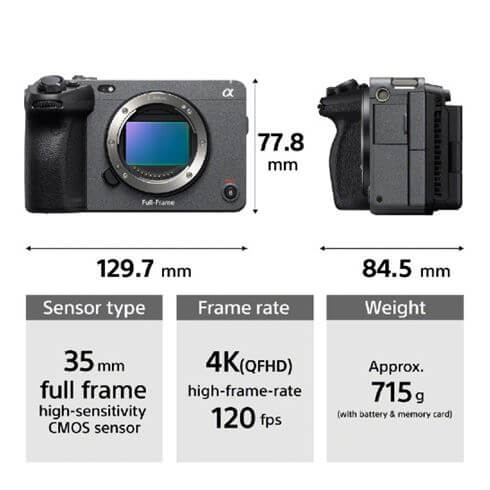 Sony FX3 Cinema Camera key feature