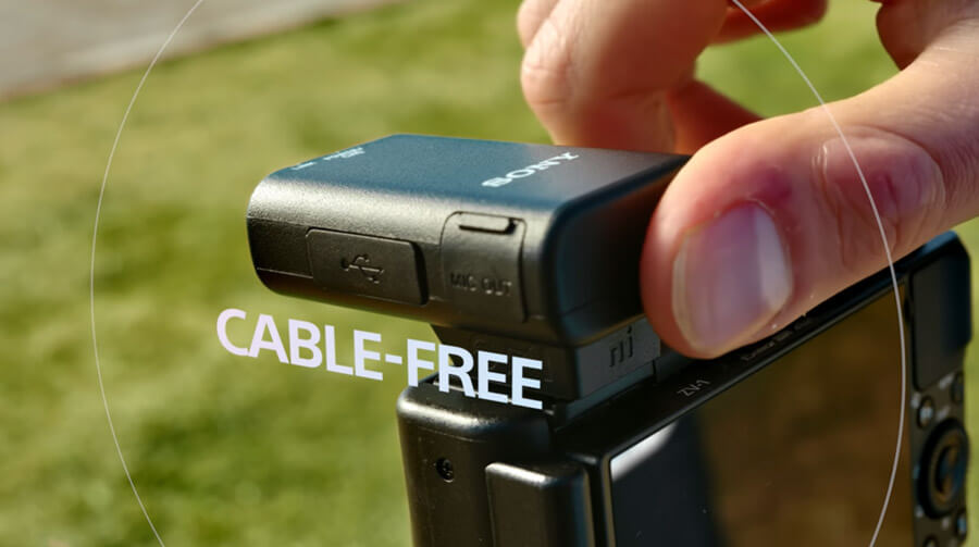 Sony ECM W2BT cable free