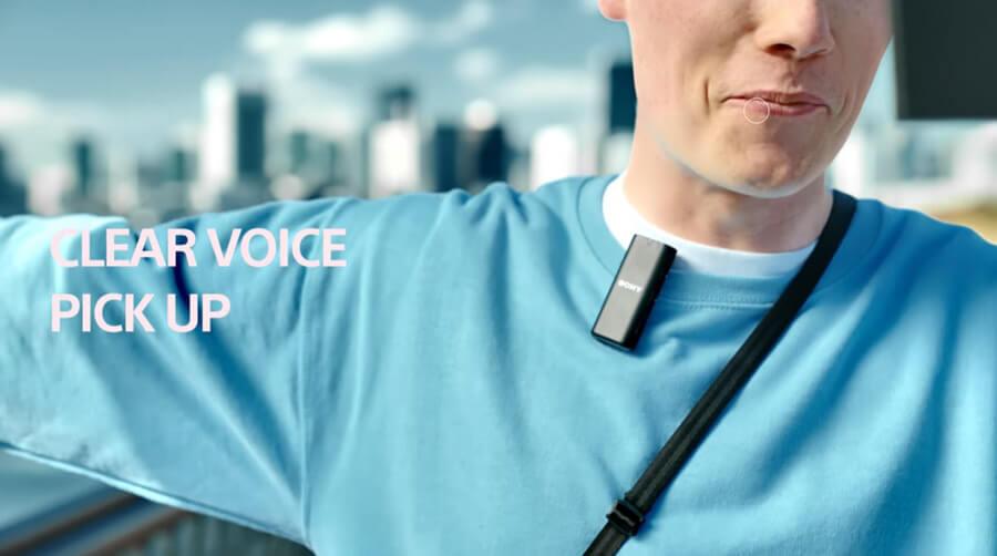 Sony ECM W2BT clear voice