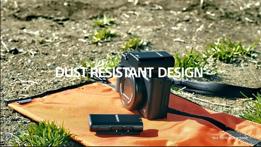 Sony ECM W2BT dust and water resistance