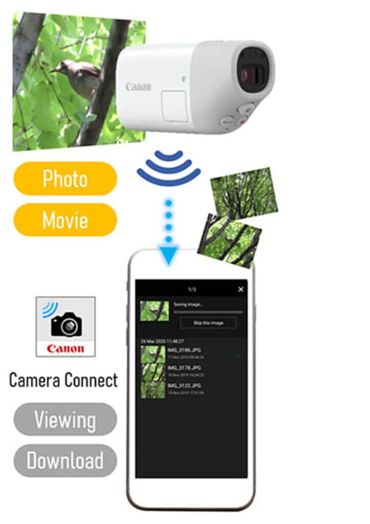 canon powershot zoom กล้องส่องทางไกลดิจิทัล camera connect app2