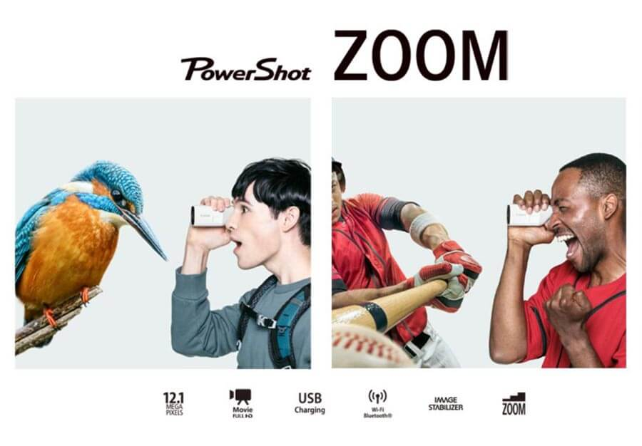 canon powershot zoom กล้องส่องทางไกลดิจิทัล main feature