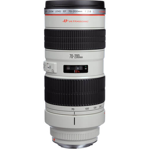 A truly versatile lens, the EF 70-200mm f/2.8L USM is a Canon L-series zoom spanning a flexible range of telephoto focal lengths. Beyond its portrait-length to medium tele range, this lens is also characterized by its bright f/2.8 constant maximum aperture, which affords notable control over depth of field and benefits working in challenging lighting conditions. Supporting the versatility is a sophisticated optical design, which utilizes four ultra-low dispersion elements to suppress color fringing and chromatic aberrations throughout the zoom range for high clarity. Also, a Super Spectra coating has been applied to help reduce lens flare and ghosting for greater contrast and color neutrality. Complementing its optical assets, this 70-200mm f/2.8 also sports a ring-type USM and internal focusing mechanism for quick, quiet, and accurate autofocus performance, as well as full-time manual focus override. Additionally, a removable rotating tripod collar is included for stable use of the lens atop a tripod or monopod. Versatile telephoto zoom is designed for full-frame Canon EF-mount DSLRs, however can also be used with APS-C models where it provides a 112-320mm equivalent focal length range. Bright constant f/2.8 maximum aperture affords consistent performance throughout the zoom range and offers notable control over depth of field for working with selective focus techniques. Four ultra-low dispersion glass elements reduce color fringing and chromatic aberrations for high clarity and color fidelity. Super Spectra coating has been applied to individual elements to minimize ghosting and flare for greater contrast and color neutrality when working in strong lighting conditions. A ring-type Ultrasonic Motor (USM), along with an internal focusing system, is employed to deliver fast, precise, and quiet autofocus performance as well as full-time manual focus override. Focus Limiter switch lets you constrain the focusing to two different ranges to suit different applications: 4