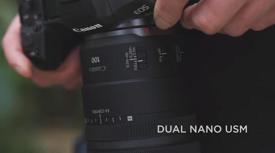 Canon RF 100mm F2.8 L Macro IS USM Dual nano usm