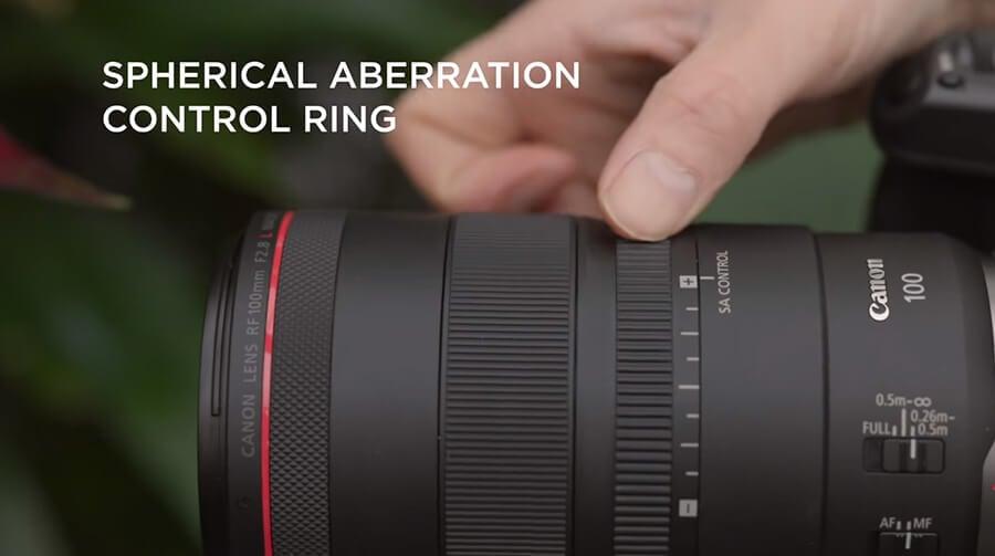 Canon RF 100mm F2.8 L Macro IS USM SA Control ring