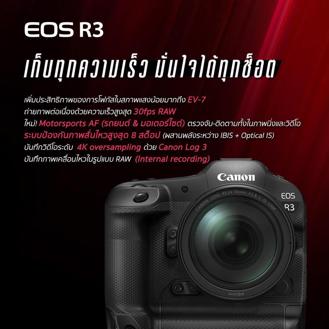 Canon EOS R3 Mirrorless Digital Camera