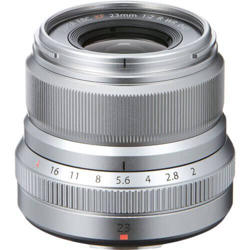 FUJIFILM XF 23mm f2 R WR Lens Silver