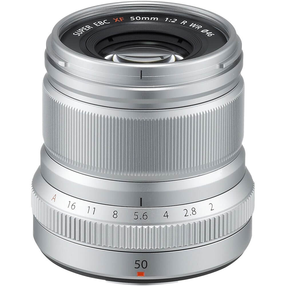FUJIFILM XF 50mm f/2 R WR Lens Silver