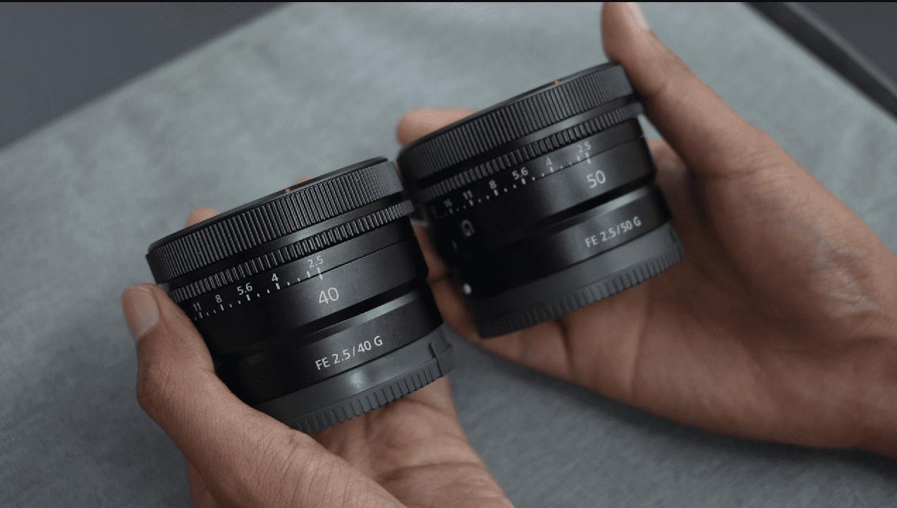 Sony FE 40mm F2.5 G vs Sony FE 50mm F2.5
