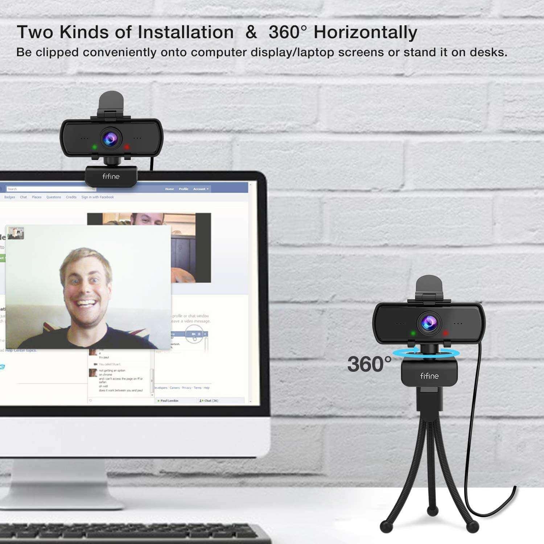 FIFINE K420 2K Computer Webcam Inclouding Tripod Stand