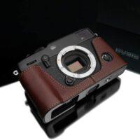 Gariz XS-CHXP3BR Genuine Leather Half Case for Fuji X-Pro3 XPRO3, Brown
