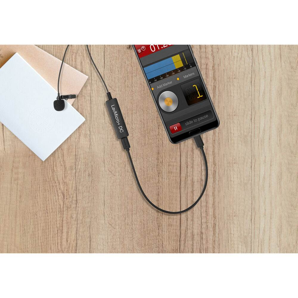 Saramonic LavMicro+DC Digital Lavalier Microphone for iOS/Android Devices and Mac/Windows Computers